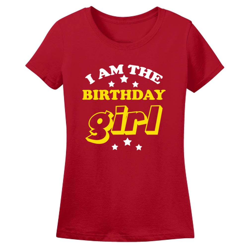 Sprinklecart Lovely Birthday Girl Name Printed Birthday T Shirt | Personalized Unique Birthday Family Wear Tee