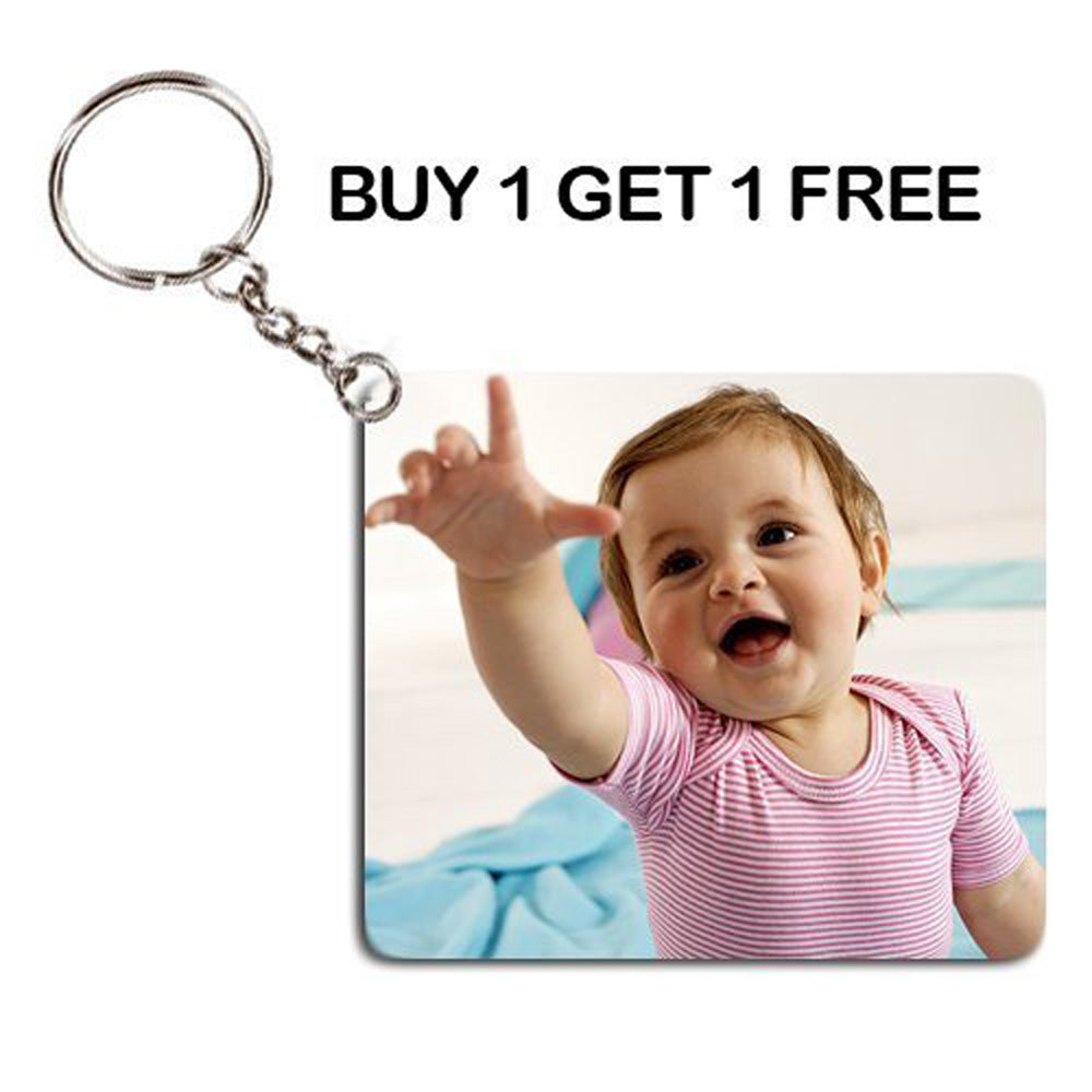 Sprinklecart Personalized Photo Printed Keychain for All Occassions (BUY 1 GET 1 FREE)
