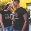 Sprinklecart Love You Forever Matching Women Men Cotton T Shirt (Black)