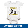 Sprinklecart Unicorn's Half Birthday Customised Name Printed Baby Cotton Onesie