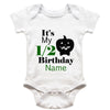 Sprinklecart Half Birthday Pumkin Customised Name Printed Cotton Baby Onesie