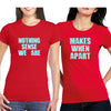 Sprinklecart Nothing Sense We are Makes When Apart Printed Cotton T Shirt Set for Friends