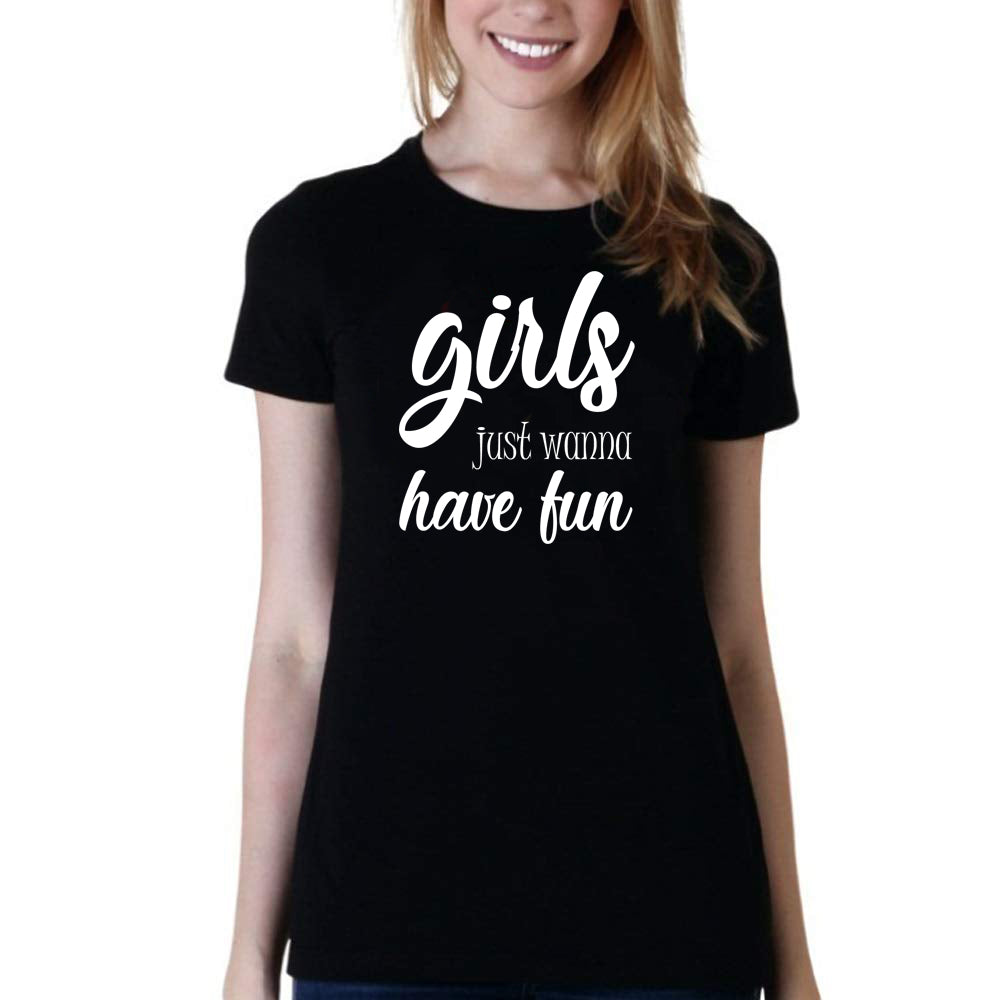 Sprinklecart Girls Just Wanna Have Fun Printed Matching T Shirt Set for Friends