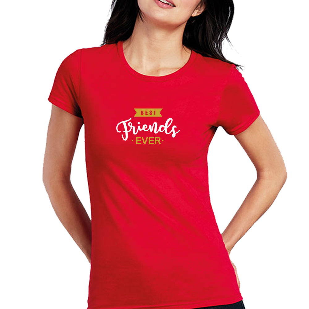 Sprinklecart Best Frends Ever Cotton Women T Shirts for Friends