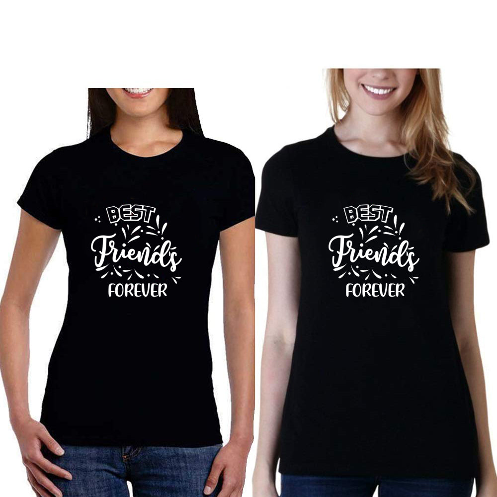 Sprinklecart Best Friends Forever Printed Ideal Cotton Women Friends T Shirts