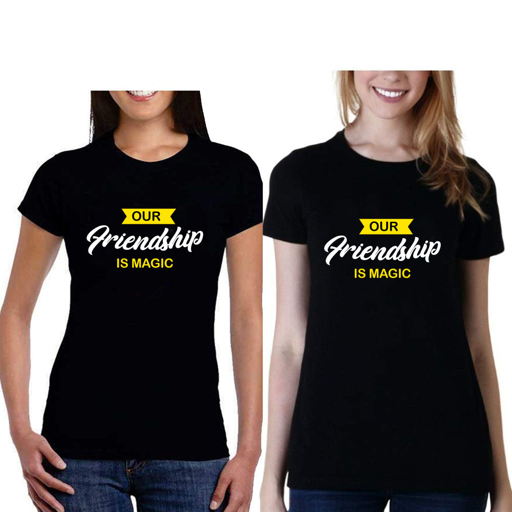 Sprinklecart Combo of Our Friendship is Magic Women Cotton Friends T Shirts