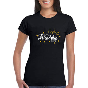 Sprinklecart Happy Friendship Day Printed Special Cotton Women T Shirt Set for Friends