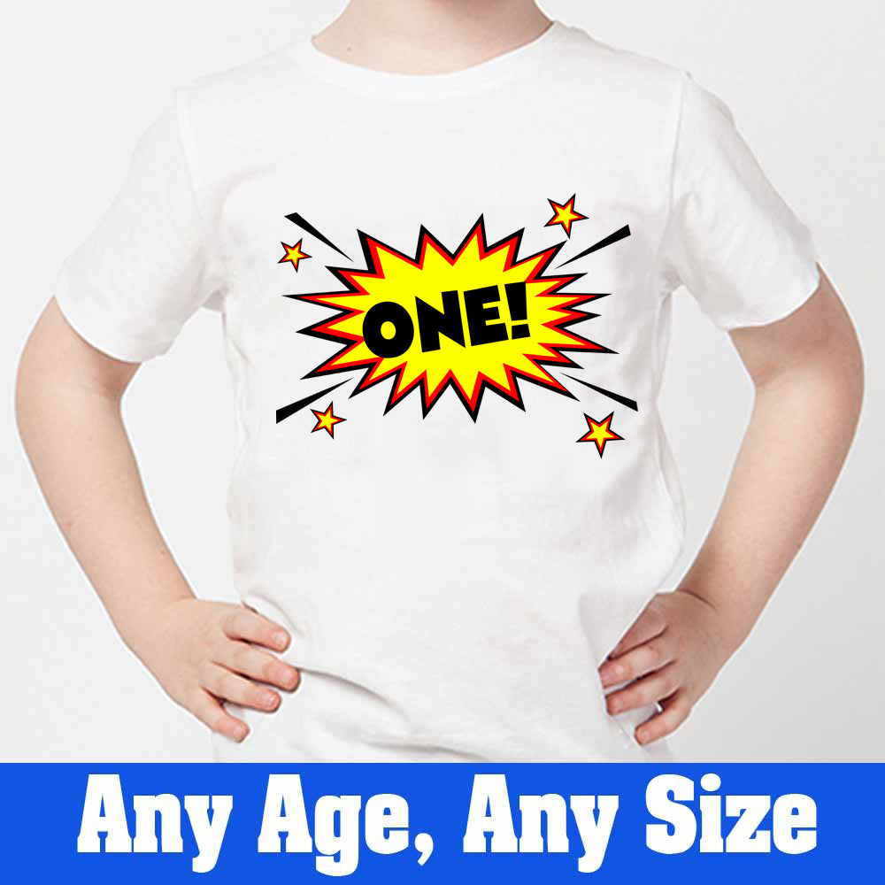 Sprinklecart Personalized First Birthday T Shirt | Custom Age Printed Birthday Wear