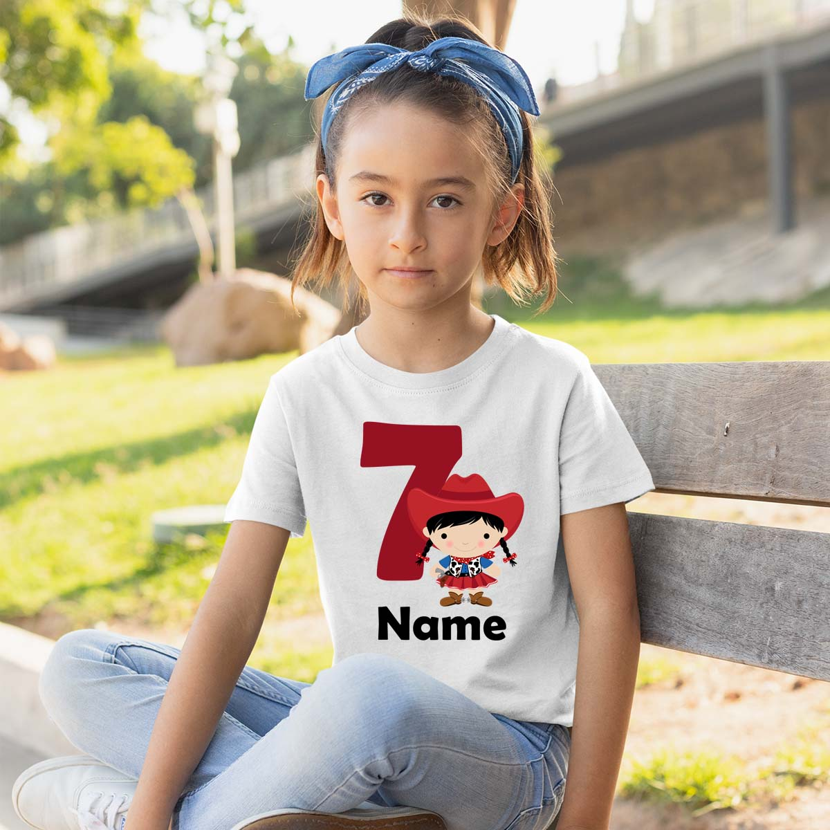 Sprinklecart Cow Girl Birthday T Shirt | Cute Personalized Birthday T Shirt for Your Little One