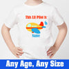 Sprinklecart This Little Pilot is 6 Printed Air Plane Birthday Dress | Personalized 6th Birthday Dress