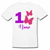 Sprinklecart Cute Butterfly Birthday T Shirt | Custom Name and Age Printed Birthday Wear