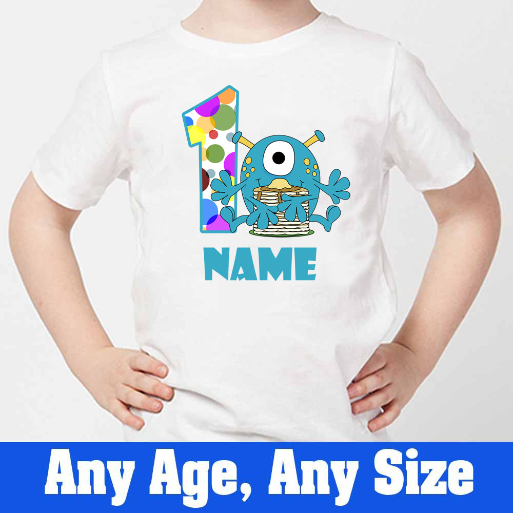 Sprinklecart Customized Monster Birthday Wear | Personalized Name and Age Printed Birthday T Shirt