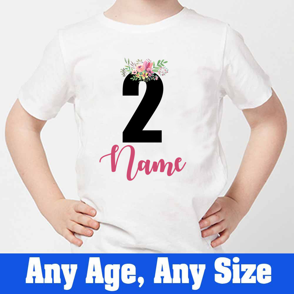 Sprinklecart Cute 2nd Birthday T Shirt and Cool Customized Birthday Wear