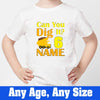 Sprinklecart Can You Did It Printed Birthday T Shirt | Personalized Construction Vehicle 6th Birthday Wear