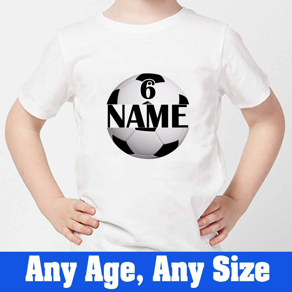 Sprinklecart Football 6th Birthday T Shirt | Custom Name and Age Printed Birthday Dress