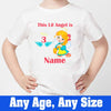 Sprinklecart This Lil Angel is 3 Printed Birthday Dress | Customized 3rd Birthday T Shirt