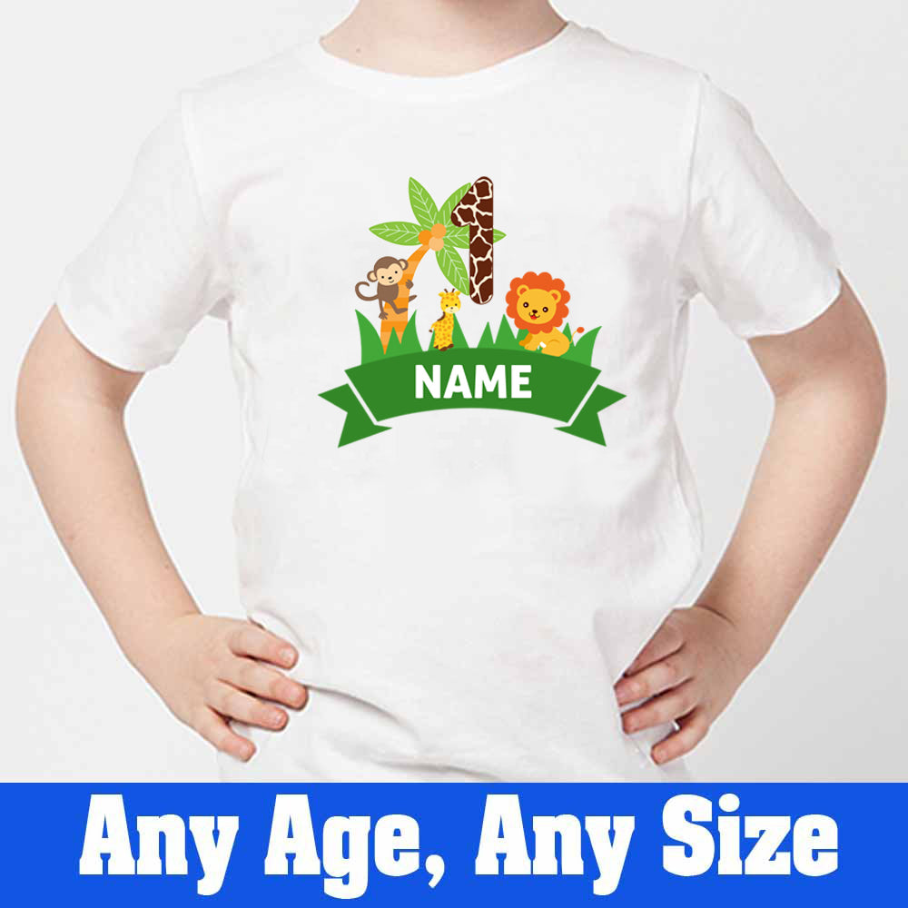 Sprinklecart Cool Jungle Safari Themed Birthday Dress | Personalized Birthday T Shirt