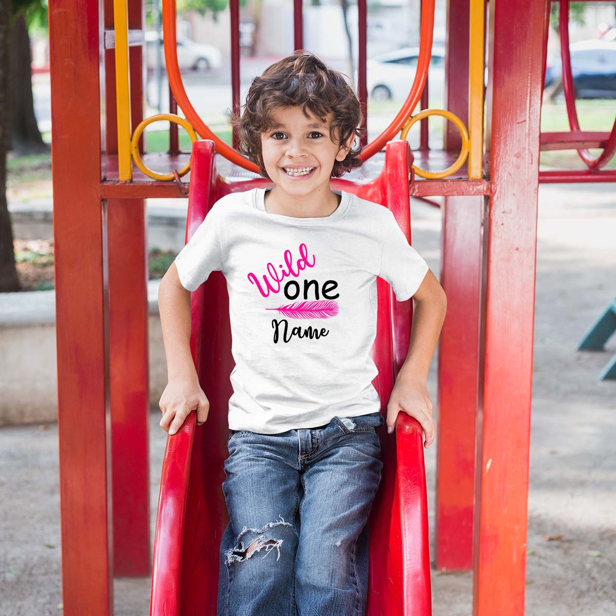 Sprinklecart Wild One Printed Birthday T Shirt | Custom Name and Age Printed Birthday Wear