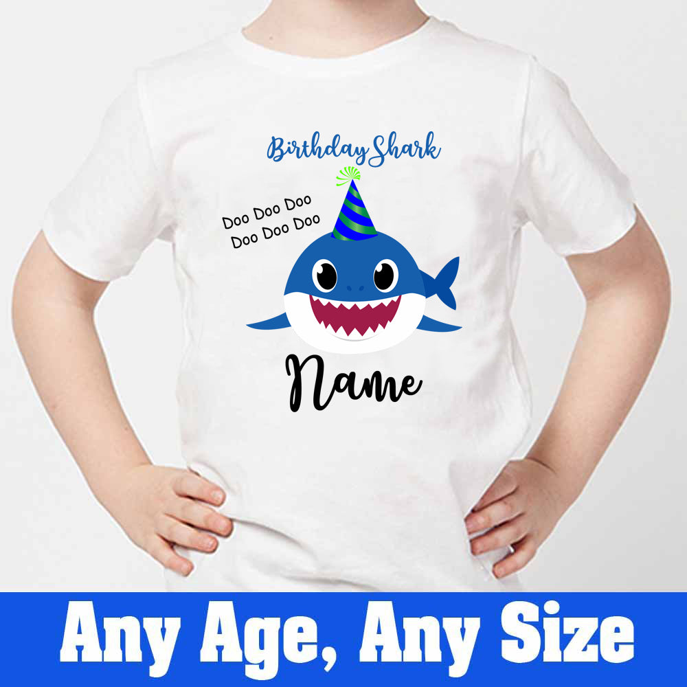 Sprinklecart Birthday Shark Doo Doo Doo Printed Birthday Dress T Shirt for Your Little One