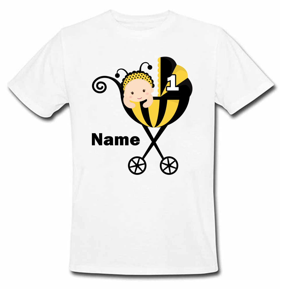 Sprinklecart Infant Honey Bee Birthday Dress | Personalized 1st Birthday T Shirt for Your Little One