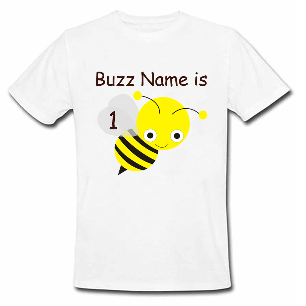 Sprinklecart Lovely Honey Bee T Shirt | Personalized Name and Age Printed Birthday Wear
