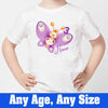 Sprinklecart Butterfly Birthday Wear | Custom Name and Age Printed Birthday T Shirt