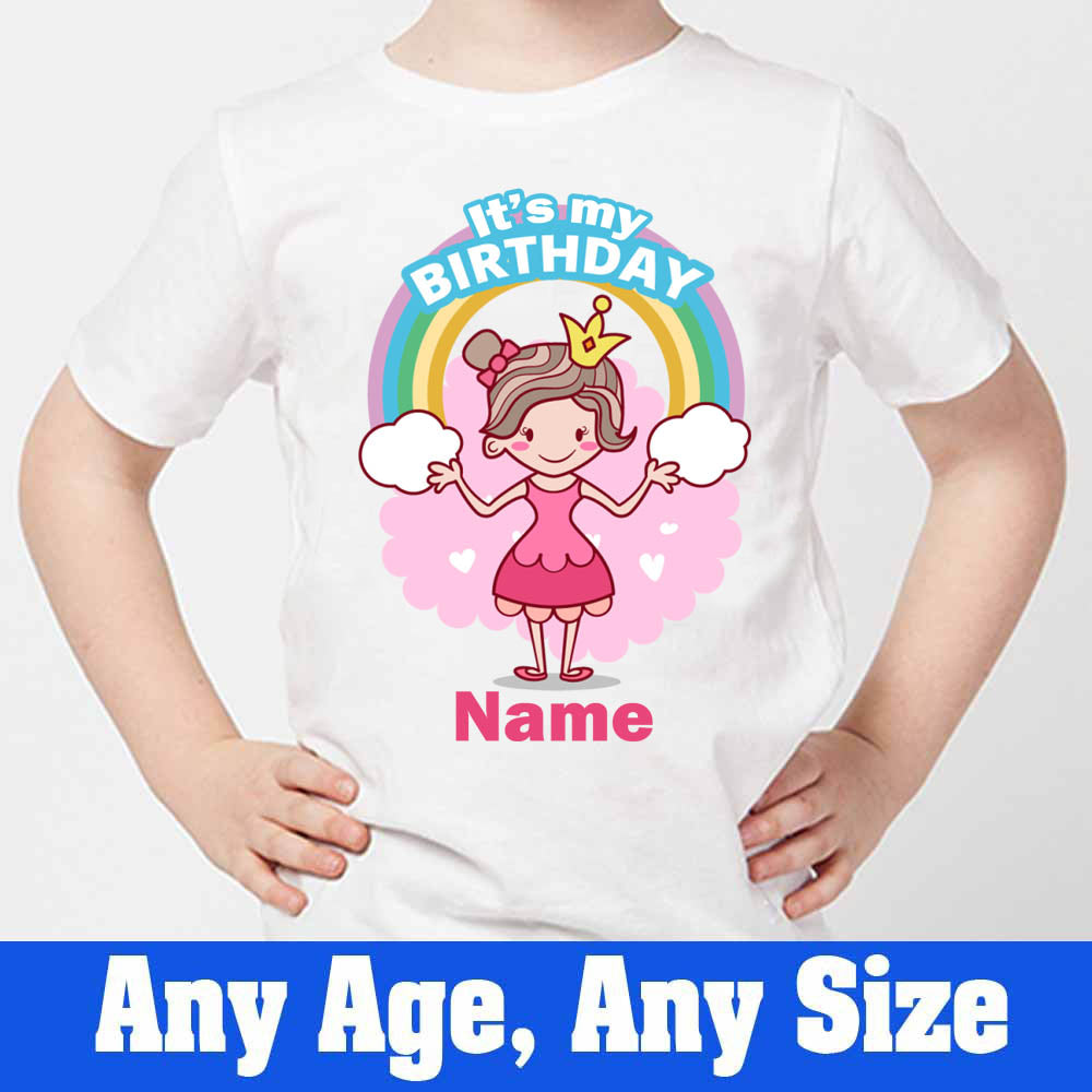 Sprinklecart Cute Princess It's My Birthday Printed Birthday T Shirt | Personalized Birthday Wear