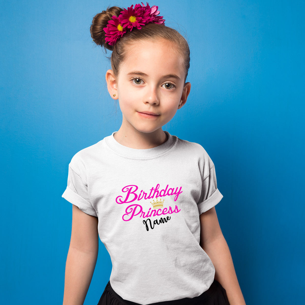Sprinklecart Birthday T Shirt for Your Little Princess | Customized Name Printed Birthday Wear