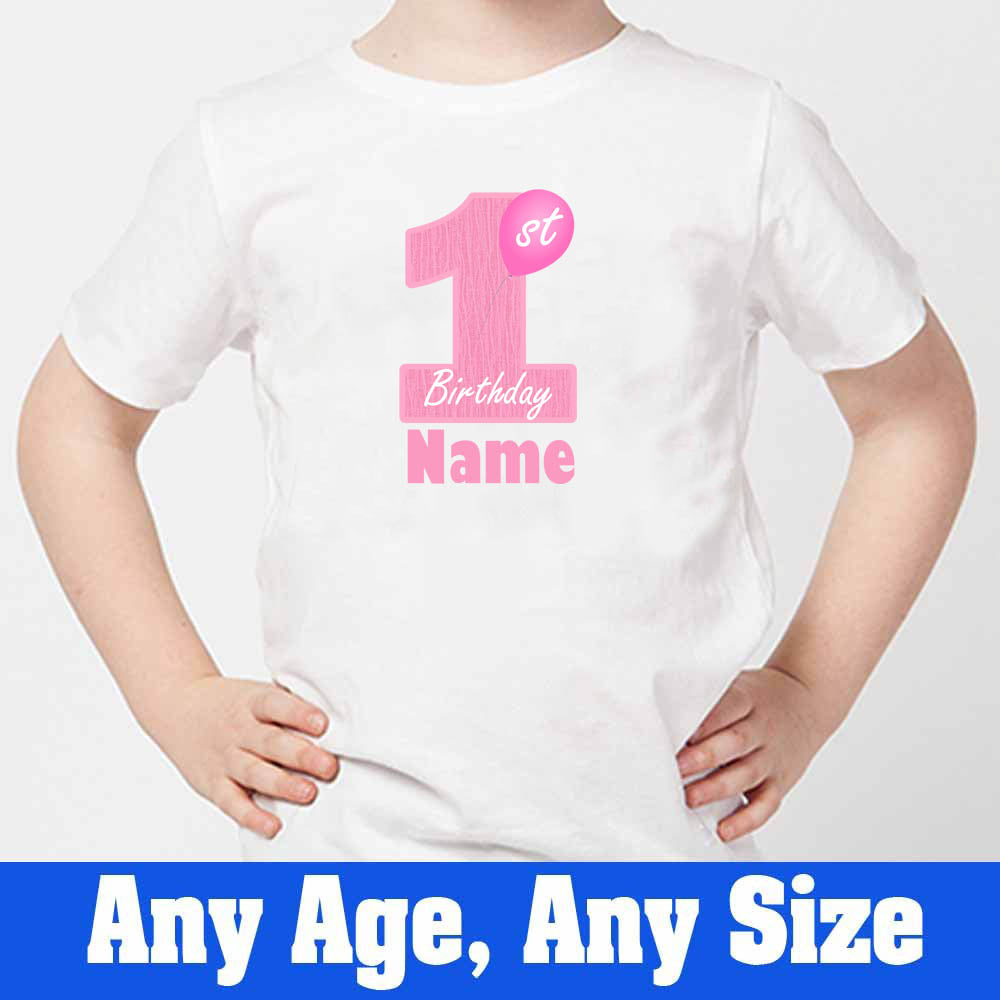 Sprinklecart 1st Birthday Wear | Custom Name and Age Printed Birthday T Shirt