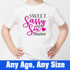 Sprinklecart Sweet Sassy & Six Printed Birthday T Shirt | Customized 6th Birthday Dress