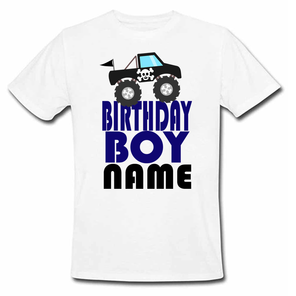 Sprinklecart Unique Cartoon Vehicle Birthday T Shirt | Custom Name and Age Printed Birthday Wear