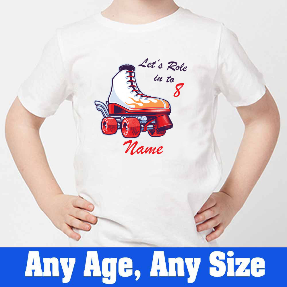 Sprinklecart Let's Role in to 8 Printed Birthday T Shirt | Personalized Birthday Wear
