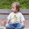 Sprinklecart Little Dinosaur 2nd Birthday T Shirt | Customized Name Printed Birthday Wear