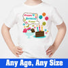 Sprinklecart Happy Birthday Printed Birthday T Shirt | Custom Name Printed Birthday Dress