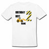 Sprinklecart Construction Vehicle 2nd Birthday Wear | Custom Name and Age Printed Birthday T Shirt