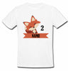 Sprinklecart Cute Fox Birthday T Shirt | Customized 2nd Birthday T Shirt Gift for Your Little One