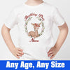 Sprinklecart Birthday Deer Printed Birthday Tee | Personalized Cute Deer Dress for Your Little One