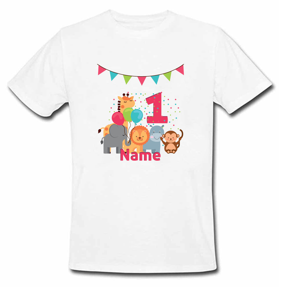 Sprinklecart Jungle Safari for Your Little One | Custom Name and Age Printed Birthday Tee