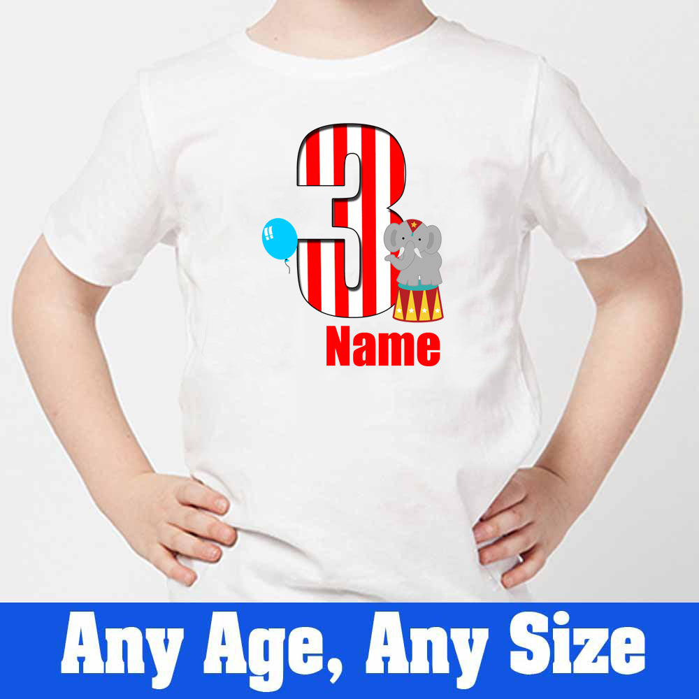 Sprinklecart Circus Themed Birthday Tee | Customized 3rd Birthday for Your Little One