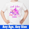 Sprinklecart Look Who's 3 Printed Bear Birthday T Shirt | Custom Name and Age Printed Birthday Dress