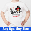 Sprinklecart Pirate Themed Birthday T Shirt Personalized 3rd Birthday Wear for Your Little One, Poly-Cotton (White)