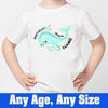 Sprinklecart Awesome Birthday Gift for Your Kid Shark Birthday T Shirt, Poly-Cotton (White)