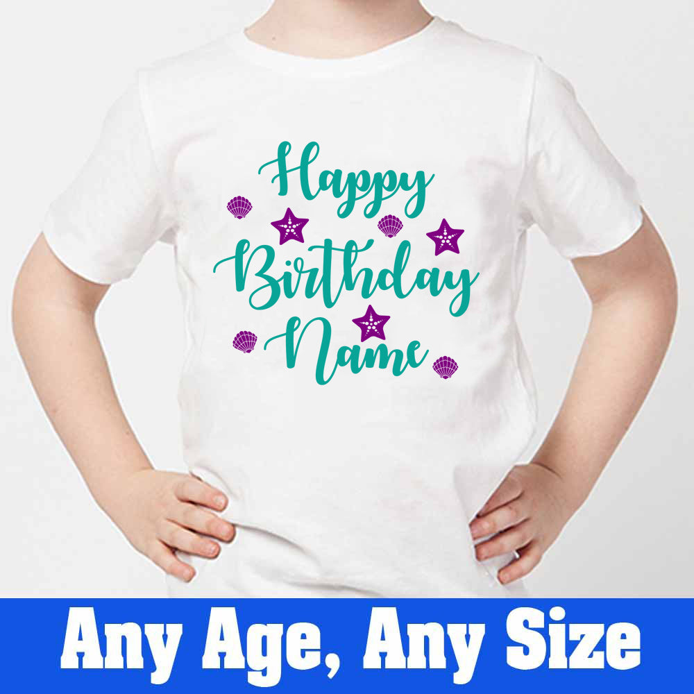 Sprinklecart Happy Birthday Printed T Shirt | Custom Name Printed T Shirt for Your Little Princess