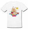 Sprinklecart Cute Birthday Gift for Your Little One Custom Name Printed Sand House Themed 3rd Birthday T Shirt, Poly-Cotton (White)