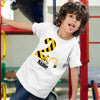 Sprinklecart Personalized 2nd Birthday Construction Vehicle T Shirt, Kids Poly-Cotton (White)