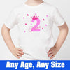 Sprinklecart Kids Customized Name Printed Butterfly Birthday Tee Wear, Poly-Cotton (White)