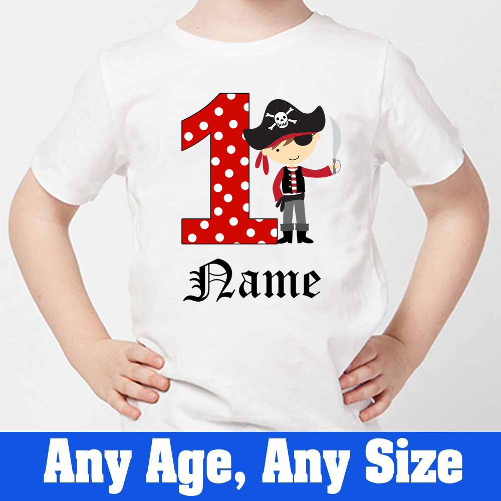Sprinklecart Cute Pirate Birthday T Shirt | Customized 1st Birthday Dress for Your Little One