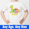 Sprinklecart Kids 1st Birthday Customized Monster Birthday T Shirt Gift, Poly-Cotton (White)