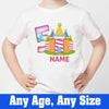 Sprinklecart Personalized Candy House Birthday T Shirt for Kids, Poly-Cotton (White)