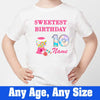 Sprinklecart Kids Customized Sweetest Birthday Printed Candy 10th Birthday Tee Gift, Poly-Cotton (White)